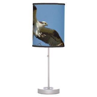 Osprey Hawk flying landing Table Lamp