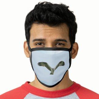 Osprey in Flight Face Mask