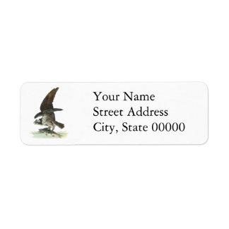 Osprey, John Audubon Custom Return Address Labels