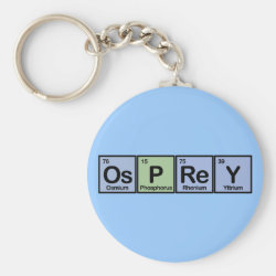 Basic Button Keychain with Osprey design