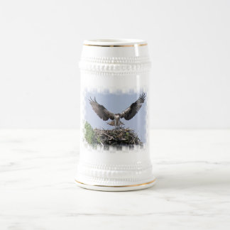 Osprey Nest Beer Stein Mugs