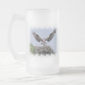Osprey Nest Frosted Glass Mug