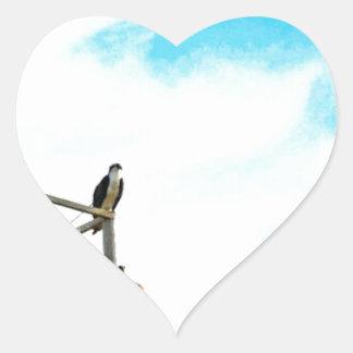 Osprey Nest Heart Sticker