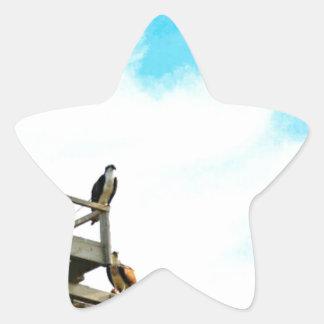 Osprey Nest Star Sticker