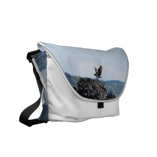 Osprey on Nest Messenger Bag