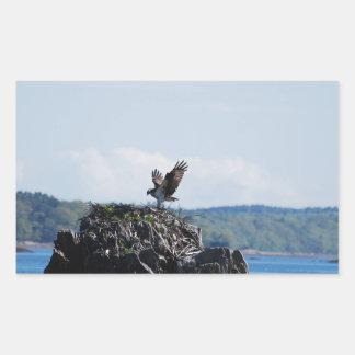 Osprey on Nest Rectangular Sticker