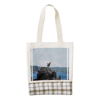 Osprey on Nest Zazzle HEART Tote Bag