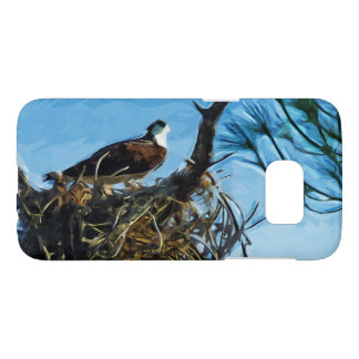 Osprey on the Nest Abstract Impressionism Samsung Galaxy S7 Case