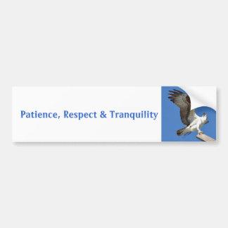 Osprey patience respect tranquility Bumper Sticker