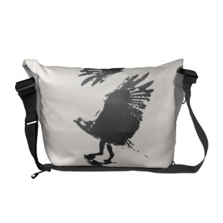 Osprey Raptor Bird Wildlife Animals Wetlands Messenger Bag