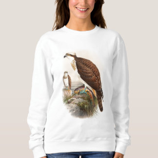 Osprey Sea Hawk John Gould Birds of Great Britain Sweatshirt