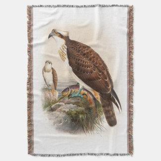 Osprey Sea Hawk John Gould Birds of Great Britain Throw
