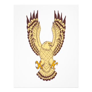 Osprey Swooping Motion Front Drawing Letterhead