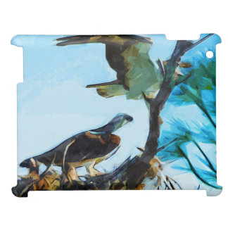 Osprey Takes Flight Abstract Impressionism iPad Cover