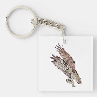 Osprey with a fish keychain