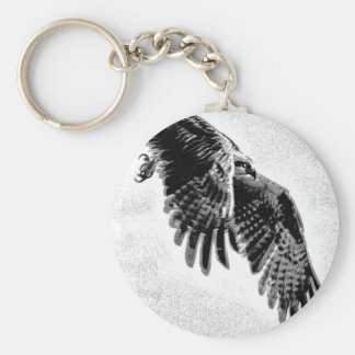 Osprey with wings outstretched. keychain
