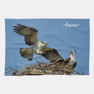 Ospreys and nest Kitchen Towel