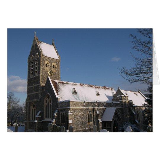 Ospringe Church in Winter Card