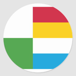 Oss, Netherlands flag Classic Round Sticker