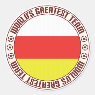 Ossetia del norte el Team.pdf más grande Pegatina Redonda