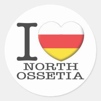 Ossetia del norte pegatina redonda