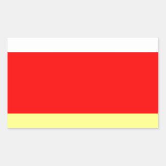 Ossetia.jpg del norte pegatina rectangular