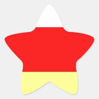 Ossetia.jpg del norte pegatina en forma de estrella
