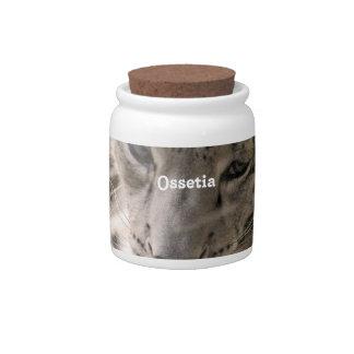 Ossetia Snow Leopard Candy Jar