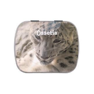 Ossetia Snow Leopard Jelly Belly Tin