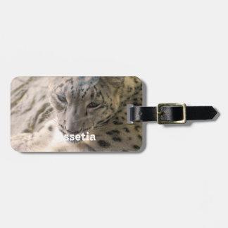 Ossetia Snow Leopard Luggage Tag