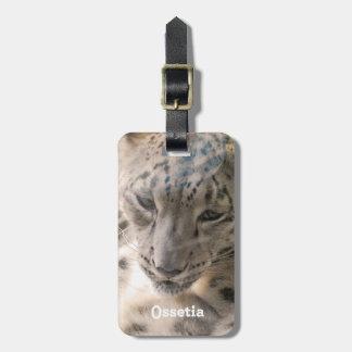 Ossetia Snow Leopard Travel Bag Tag