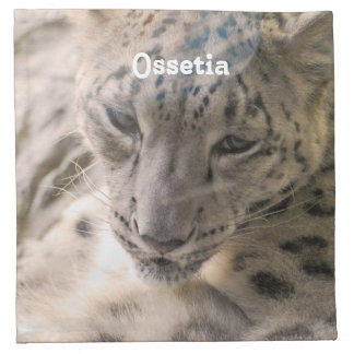 Ossetia Snow Leopard Printed Napkin