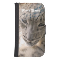 Ossetia Snow Leopard Phone Wallet Cases