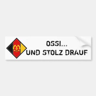 OSSI UND STOLZ DRAUF AUTOAUFKLEBER