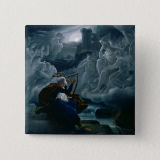 Ossian conjures up the spirits pinback button