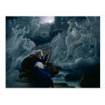 Ossian conjures up the spirits postcard