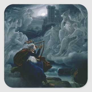 Ossian conjures up the spirits square sticker