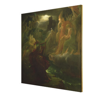 Ossian Conjuring up the Spirits of the River Canvas Print
