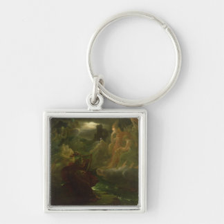 Ossian Conjuring up the Spirits of the River Keychain