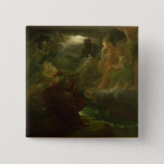 Ossian Conjuring up the Spirits of the River Pinback Button