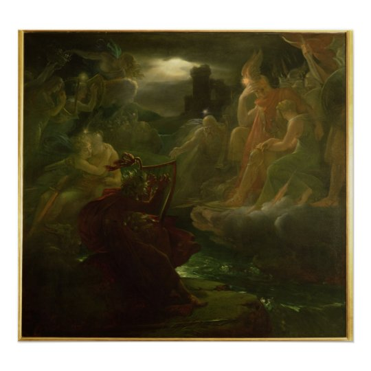 Ossian Conjuring up the Spirits of the River Poster