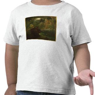 Ossian que conjura encima de las bebidas espirituo camisetas