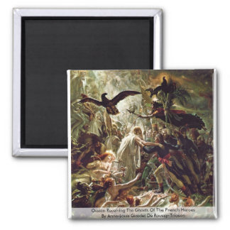 Ossian Receiving The Ghosts Of The French Heroes 2 Inch Square Magnet