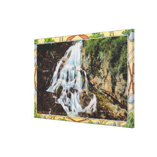 Ossipee Mountain Park View of Bridal Veil Canvas Print