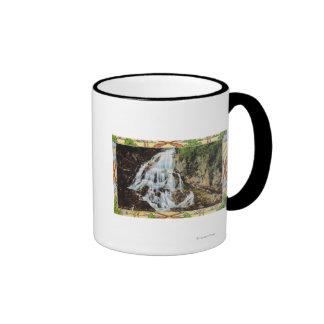 Ossipee Mountain Park View of Bridal Veil Ringer Coffee Mug