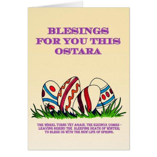 Ostara Blessings for you: Card