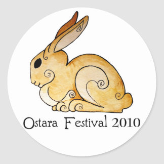 Ostara Bunny1 Pegatinas Redondas