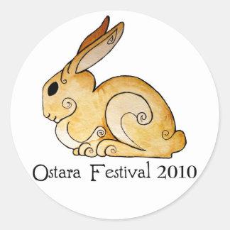 Ostara Bunny1 Pegatina Redonda