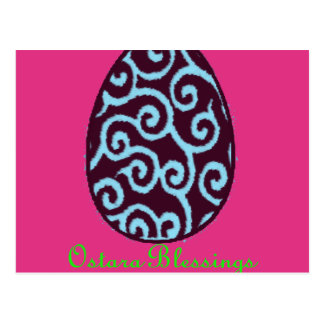 Ostara Easter Blessings Postcard