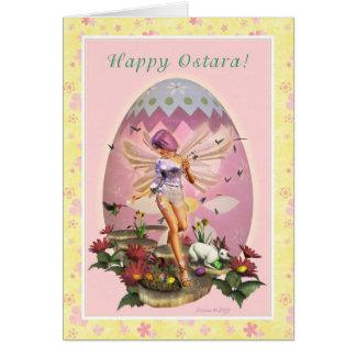 Ostara feliz - Faerie de la primavera - tarjeta de